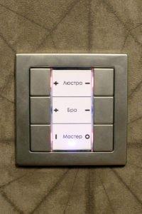 Настенный выключатель 6 клавиш - управление освещением