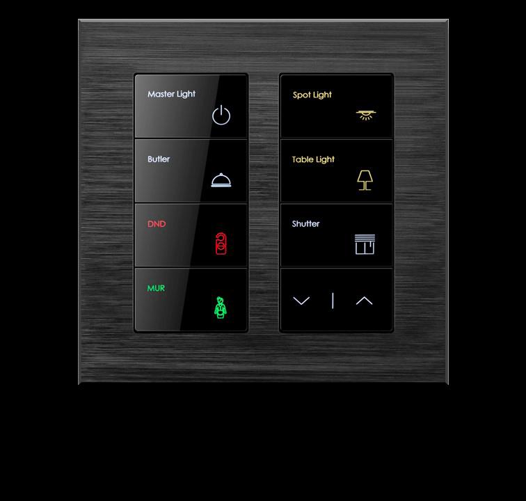 Сенсорный умный выключатель 8 кнопок и 16 действий, серия ALBA