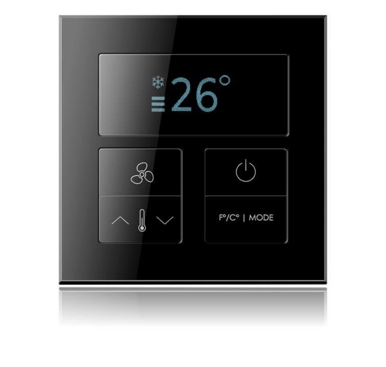 Выключатель Alba Black Nova с термостатом