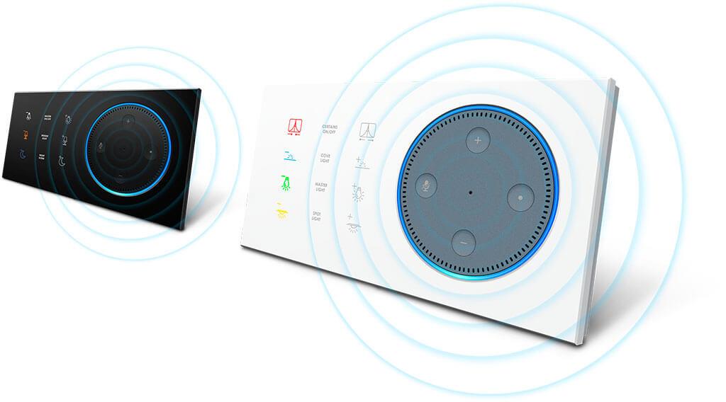 Выключатели ARIA серии T-DOT доступны в двух основных цветах, белый и черный.