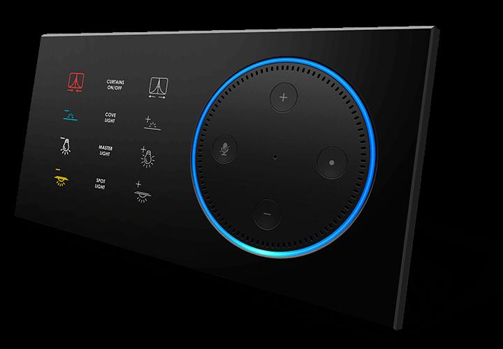 Настенный выключатель 12 кнопок, модель ARIA серия T-DOT от BLACK NOVA