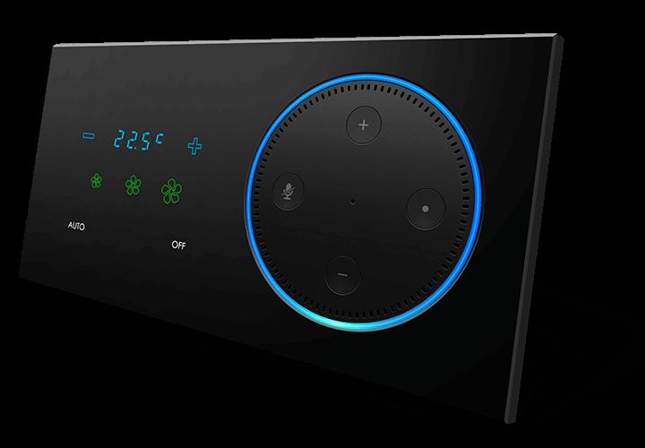 Настенный выключатель с термостатом и 9 кнопок, модель ARIA серия T-DOT от BLACK NOVA