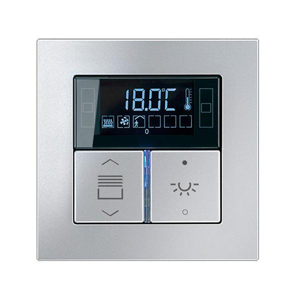 Комнатный контроллер с дисплеем F40, Acreation, 2 клавиши, JUNG