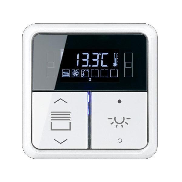 Комнатный контроллер с дисплеем F40, CD500, 2 клавиши, JUNG