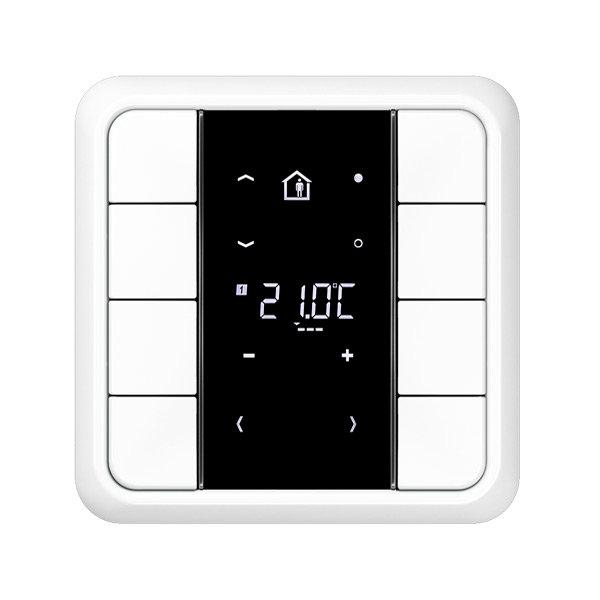 Комнатный контроллер с дисплеем F50, CD500, 8 клавиш, JUNG