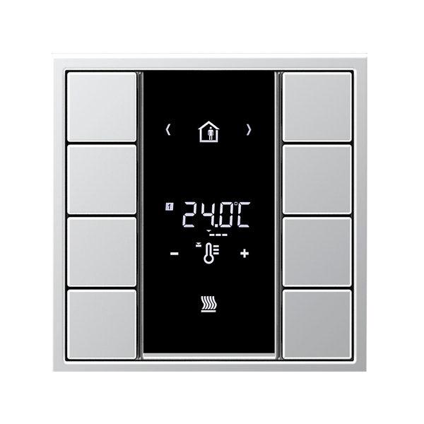 Комнатный контроллер с дисплеем F50, LS990, 8 клавиш, JUNG