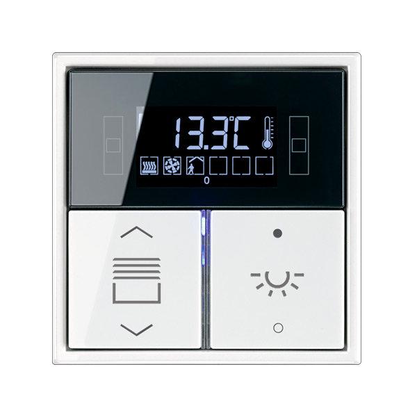 Комнатный контроллер с дисплеем F40, LS990, 2 клавиши, JUNG