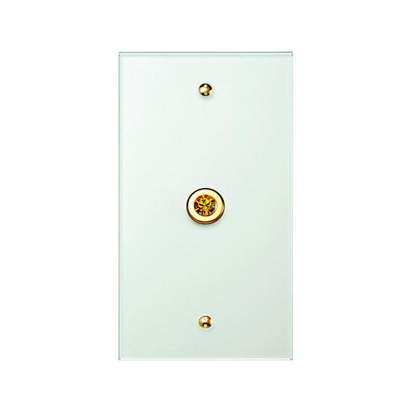 Выключатели Berker TS, 1 кнопка, рамка стекло