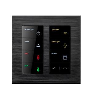 умный выключатель Alba 8 кнопок, Blacknova