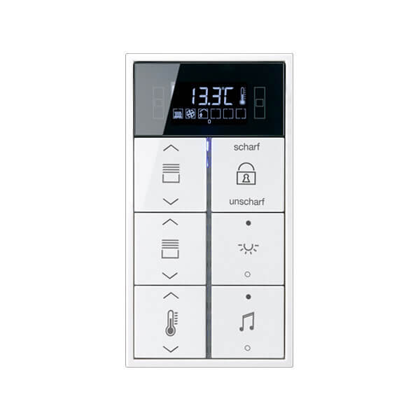 Комнатный контроллер с дисплеем F40, LS990, 8 клавиш, JUNG