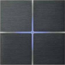 Выключатель Basalte Sentido 4 кнопки, матовый, алюминий