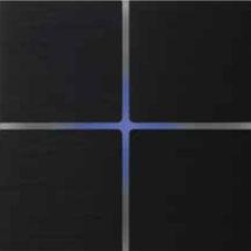 Выключатель Basalte Sentido, матовый черный, 4 кнопки, алюминий
